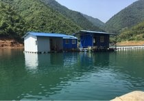 仙霞湖湖山渔翁